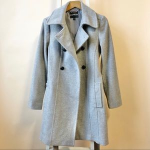 Express Women's Recycled Wool blend Trench Coat